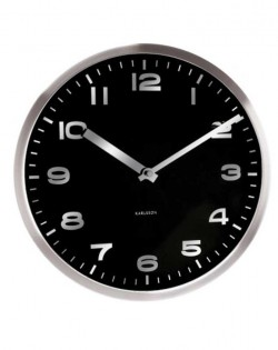 Wall Clock Mirror Number Black