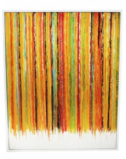 Orange Multi Stripe Painting