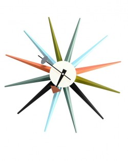 Replica George Nelson Sunburst Wall Clock – Multi