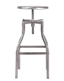 French Industrial Barstool – Galvanised