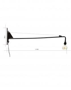 Crane Wall Lamp – Black