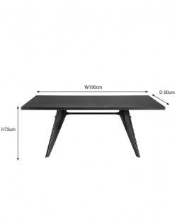 Replica Jean Prouve EM Dining Table – Black