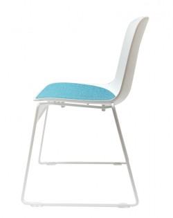 Valentina Chair – White/Aqua Cushion