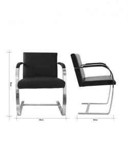 Replica Mies van der Rohe Brno Chair – Black