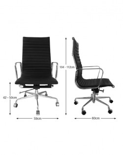 Group Ribbed High Back Office Chair – White