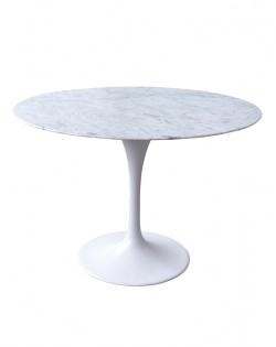 Replica Eero Saarinen Tulip Dining Table – White Marble
