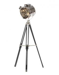 Navigator Floor Lamp – Wood Chrome