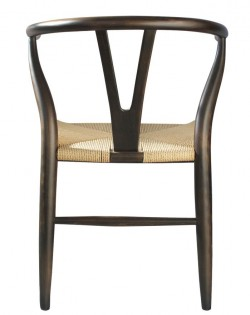 Nordic Y Back Dining Chair – Brown/Natural Weave