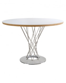 Replica Isamu Noguchi Cyclone Dining Table – White/Brushed Steel