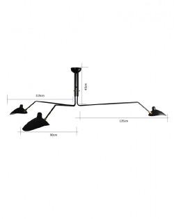 Serge 3 Arm Pendant – Black