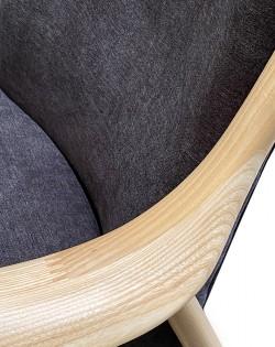 Odin Armchair – Charcoal / Ash Wood