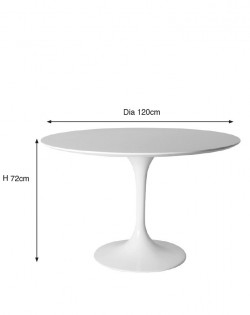 Replica Eero Saarinen Tulip Dining Table – White Wood