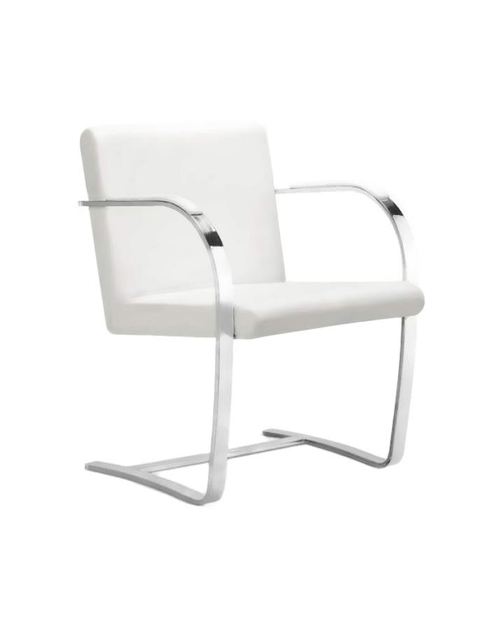 Replica Mies Van Der Rohe Brno Chair White Zuca