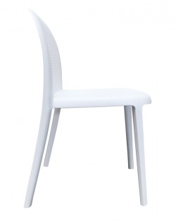 TIG Table and Set of 4 Lipperli Chairs – White