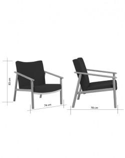 Leif Chair – Black / Ash Wood