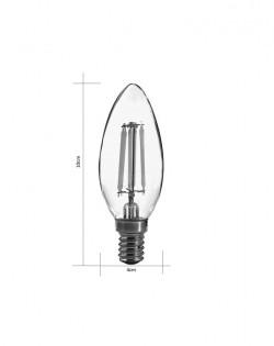 Edison LED Candle Bulb – E14 – 6W