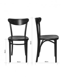 Graz Bentwood Chair – Walnut