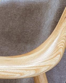 Odin Armchair Light Grey / Ash Wood