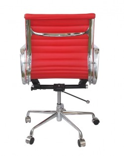 Group Ribbed Low Back Office Chair – Red