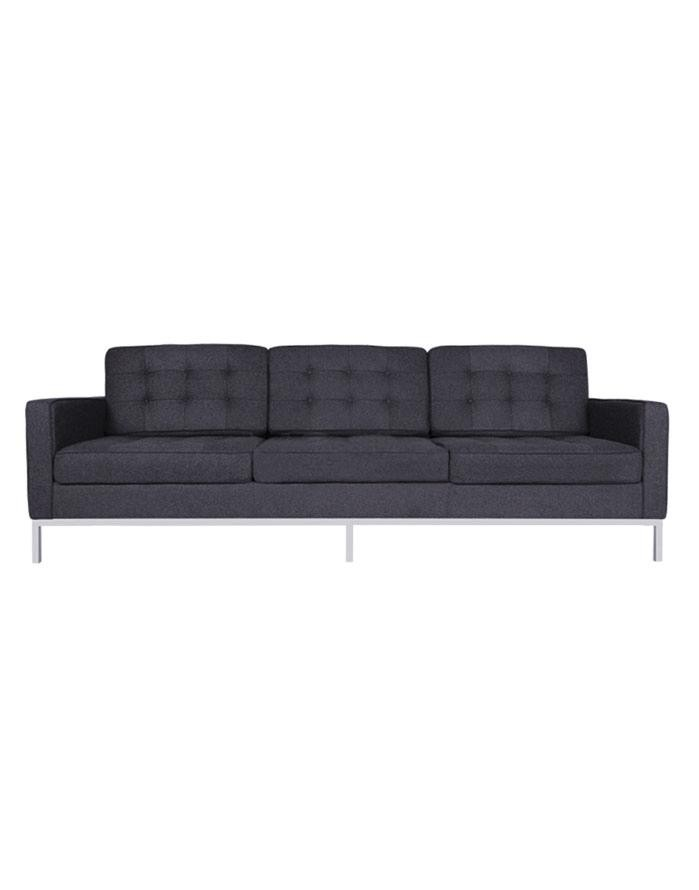 Replica Florence Knoll 3 Seater Sofa U2013 Charcoal