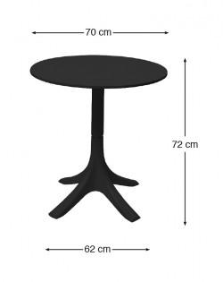 Canard Outdoor Table – Black