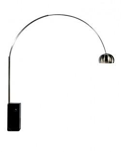 Replica Achille Castiglioni Arco Lamp – Black Marble