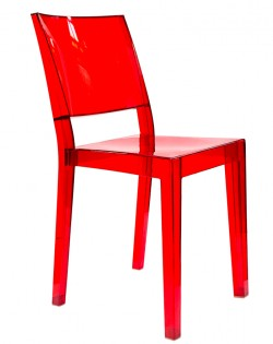 Transparent Chair – Red Set of 4