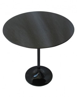 Replica Eero Saarinen Tulip Side Table – Black Granite