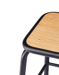 Ecole Stool 44cm – Matt Black