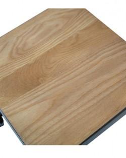 Amelie Stool 46cm – Matt Black Ash Wood Seat