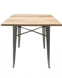 Amelie Industrial Table – Ash Wood Top