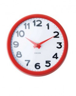 Wall Clock Never Out – Red