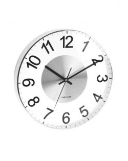 Wall Clock Slim Cased – Black