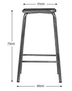 École Bistro Barstool 75cm – Gunmetal