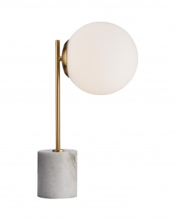 Globe Side Table Lamp – White Marble