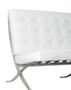 Replica Barcelona 2 Seater Sofa – White