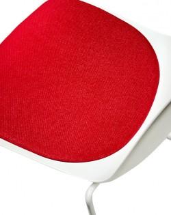 Valentina Chair White/Red Cushion