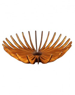 Curved Wooden Bowl