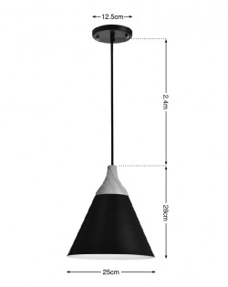Scandinavian Pendant – Black