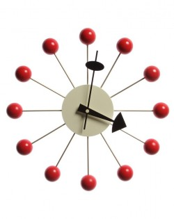Replica George Nelson Ball Wall Clock – Red